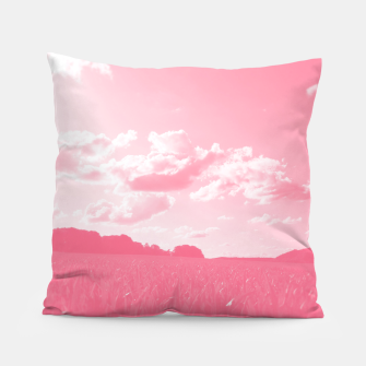 meadow and clouds pw Pillow miniature