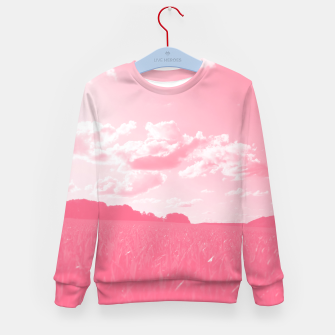meadow and clouds pw Kid's sweater miniature