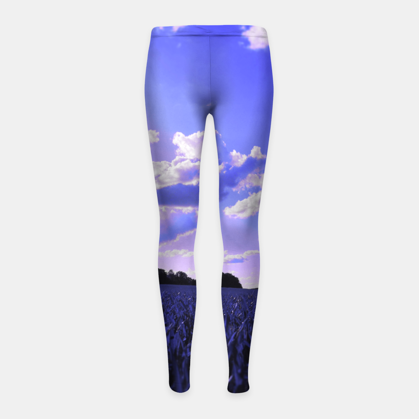 Image de meadow and clouds db Girl's leggings - Live Heroes