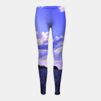 Thumbnail image of meadow and clouds db Girl's leggings, Live Heroes