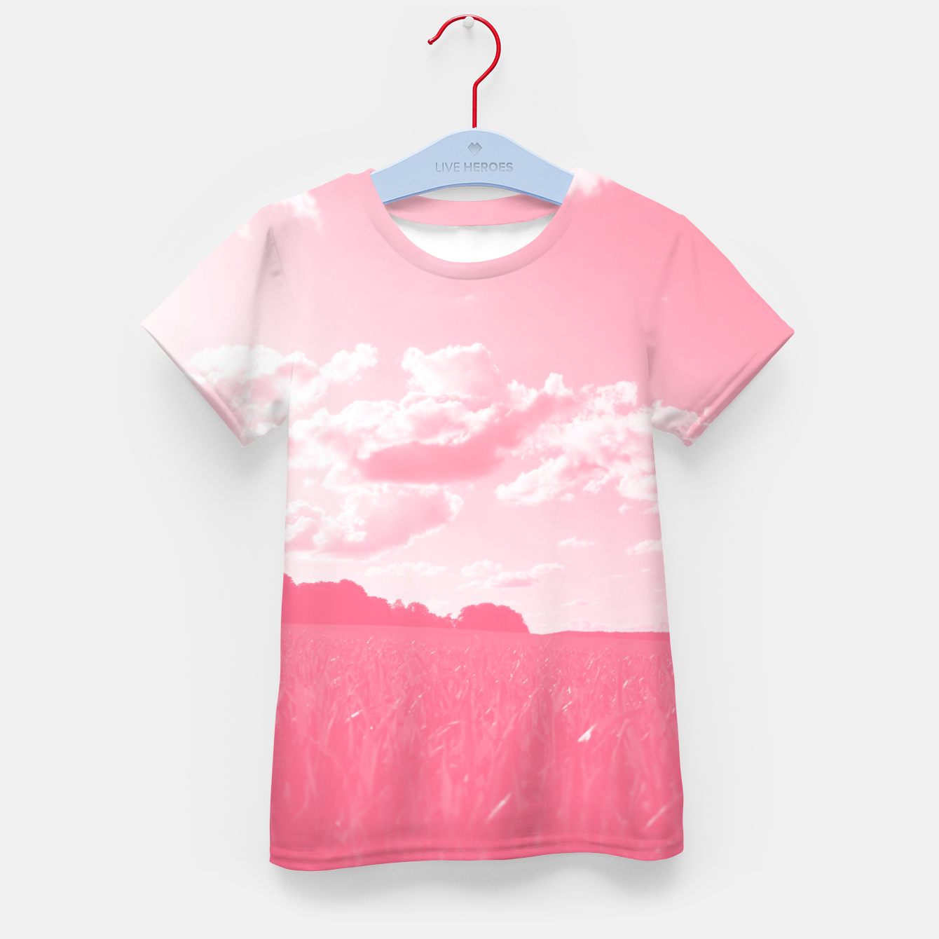 Image de meadow and clouds pw Kid's t-shirt - Live Heroes