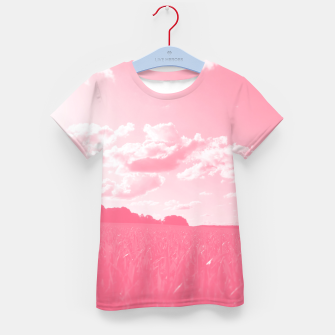 Thumbnail image of meadow and clouds pw Kid's t-shirt, Live Heroes