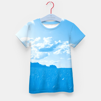 meadow and clouds wb Kid's t-shirt miniature