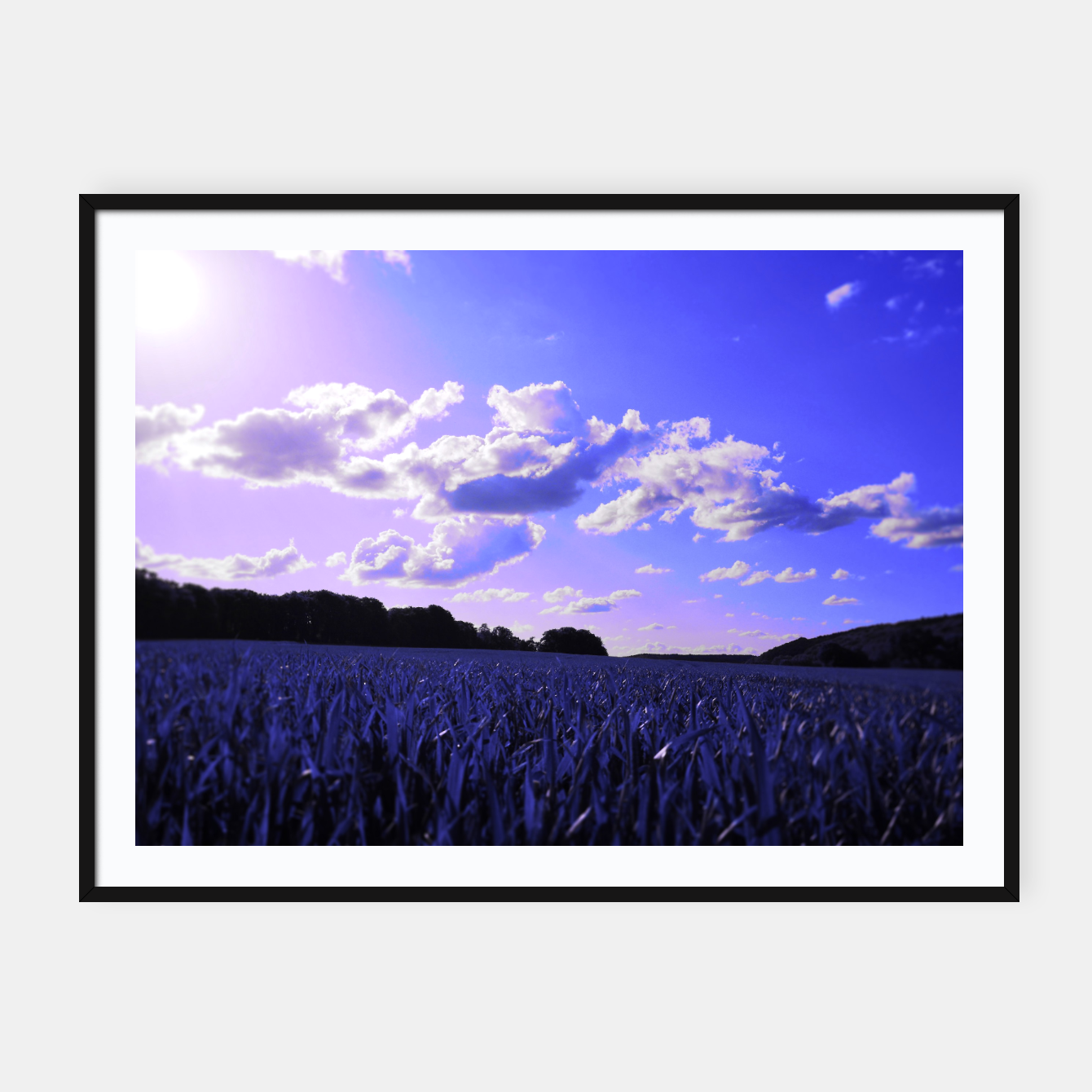 Image of meadow and clouds db Framed poster - Live Heroes