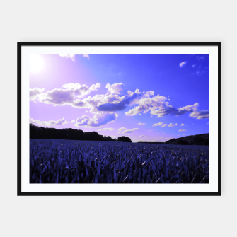 Miniature de image de meadow and clouds db Framed poster, Live Heroes