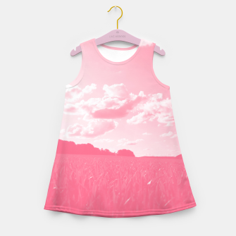 meadow and clouds pw Girl's summer dress thumbnail image
