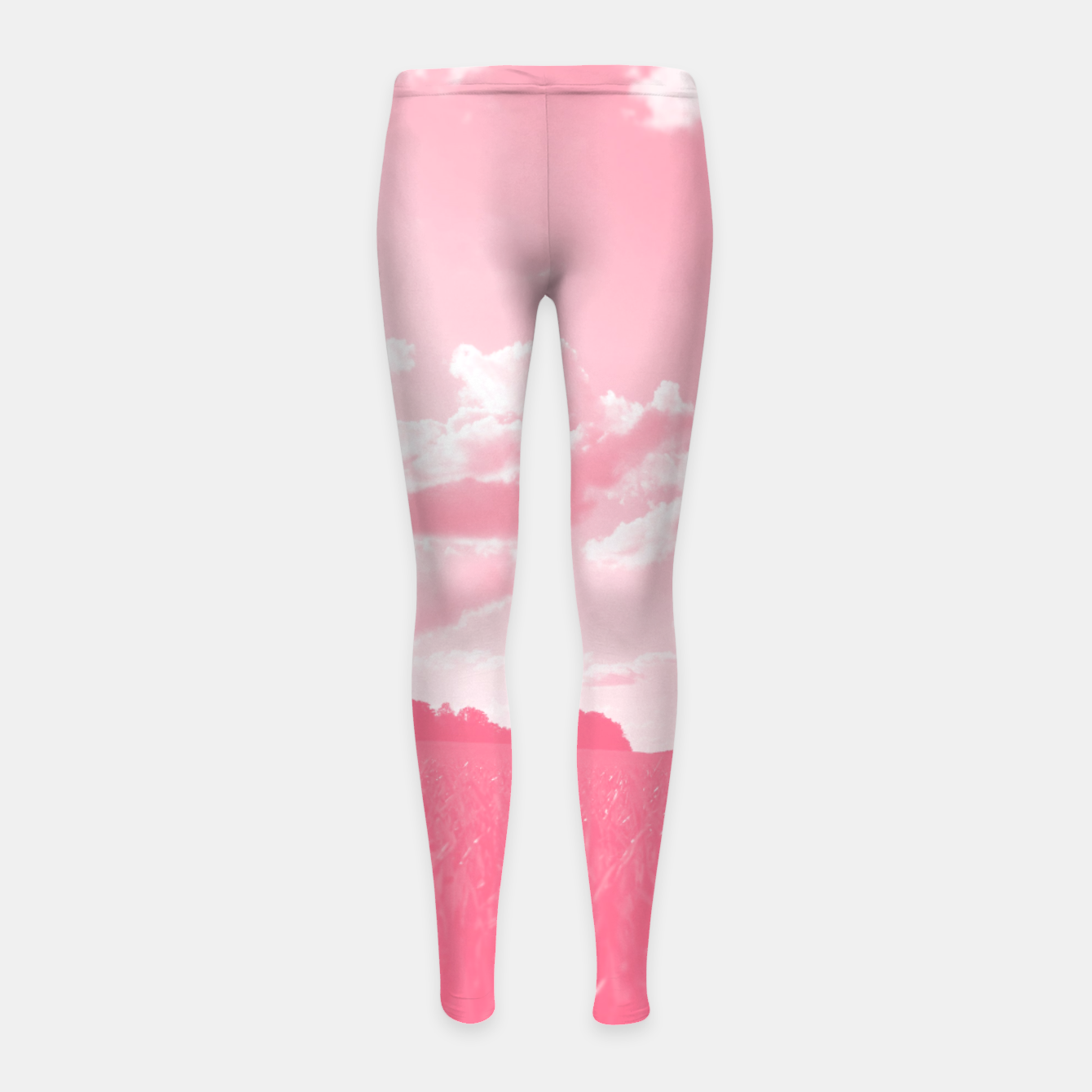 Image of meadow and clouds pw Girl's leggings - Live Heroes
