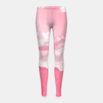 Miniature de image de meadow and clouds pw Girl's leggings, Live Heroes