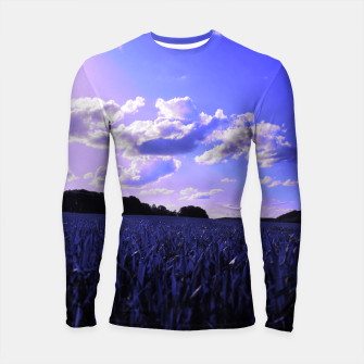 Thumbnail image of meadow and clouds db Longsleeve rashguard , Live Heroes