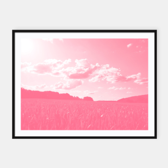 meadow and clouds pw Framed poster thumbnail image