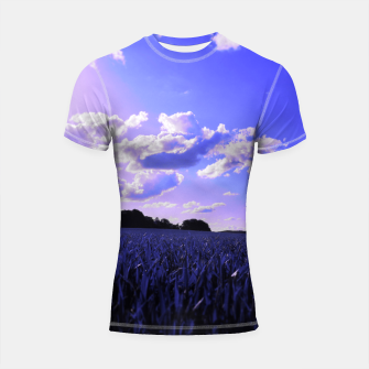 Thumbnail image of meadow and clouds db Shortsleeve rashguard, Live Heroes