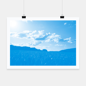 meadow and clouds wb Poster miniature