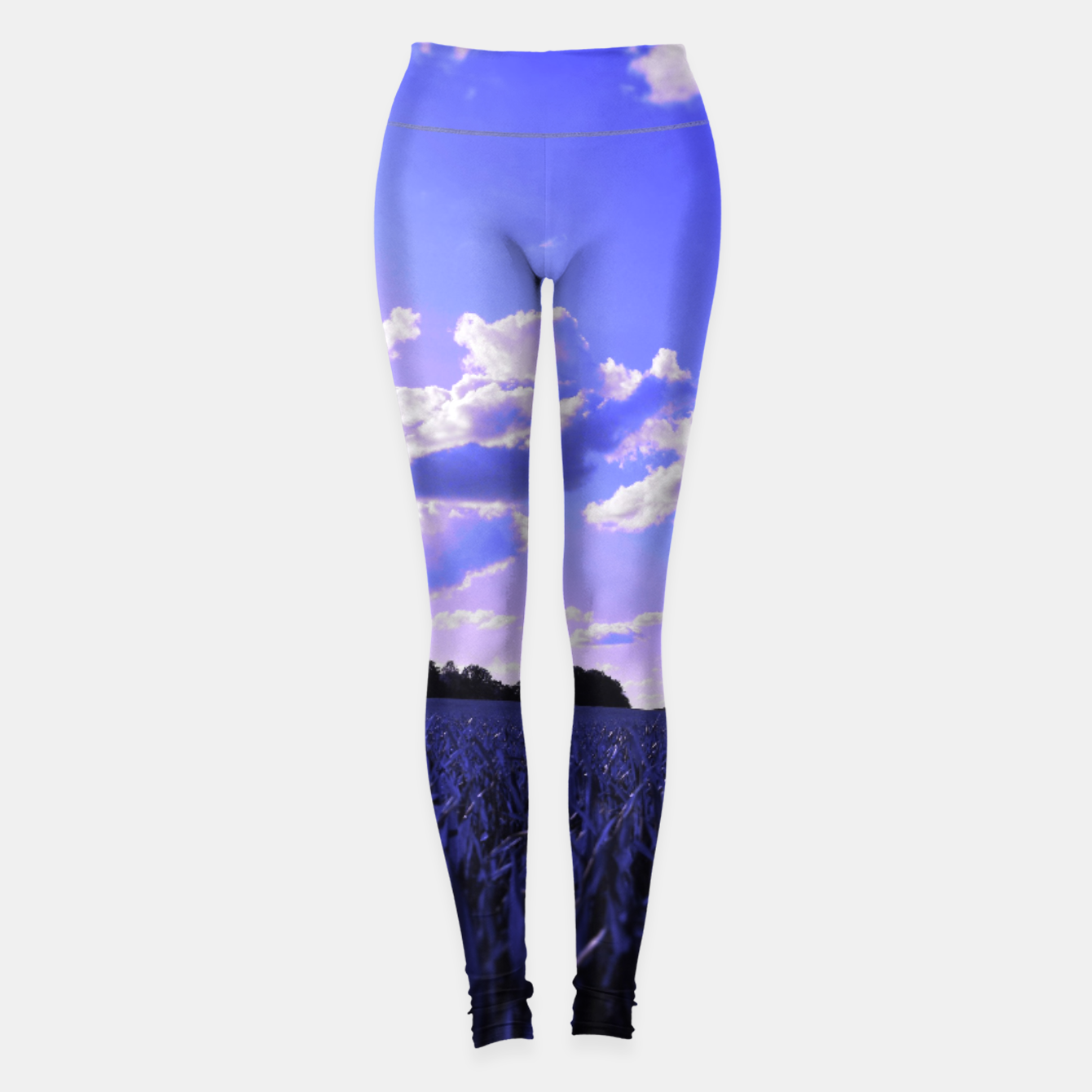 Image of meadow and clouds db Leggings - Live Heroes
