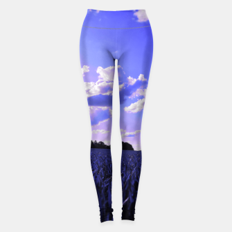 Thumbnail image of meadow and clouds db Leggings, Live Heroes