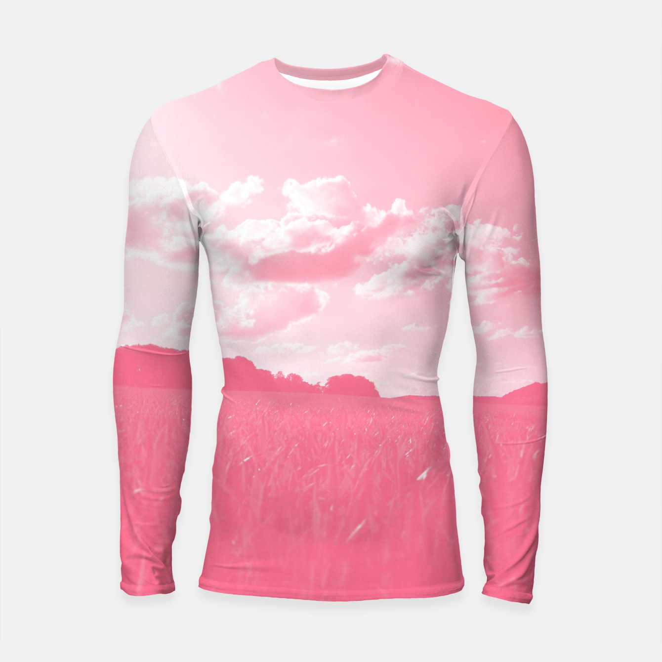 Image of meadow and clouds pw Longsleeve rashguard  - Live Heroes