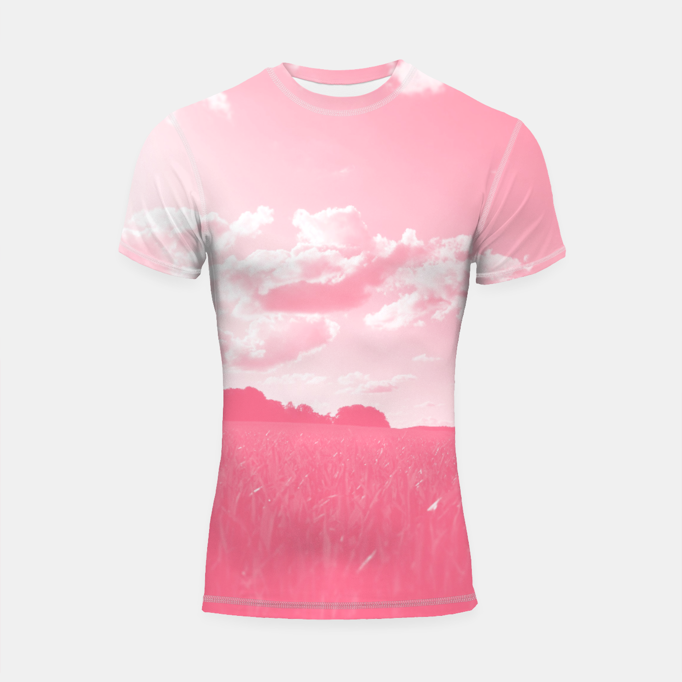 Image of meadow and clouds pw Shortsleeve rashguard - Live Heroes