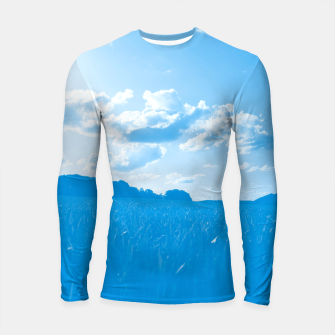 Thumbnail image of meadow and clouds wb Longsleeve rashguard , Live Heroes