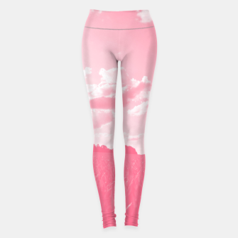 Thumbnail image of meadow and clouds pw Leggings, Live Heroes