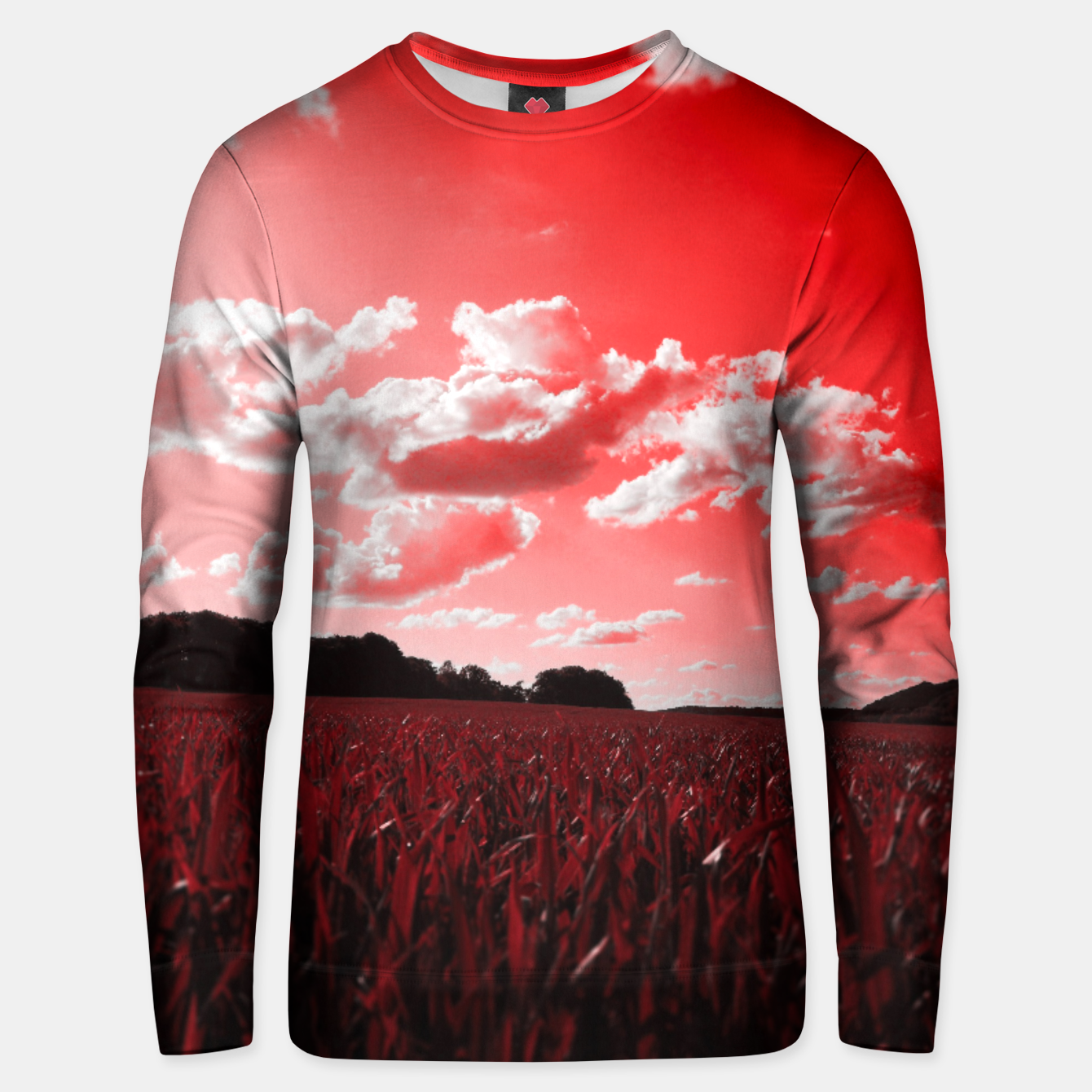 Image de meadow and clouds dr Unisex sweater - Live Heroes