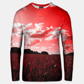 Miniature de image de meadow and clouds dr Unisex sweater, Live Heroes
