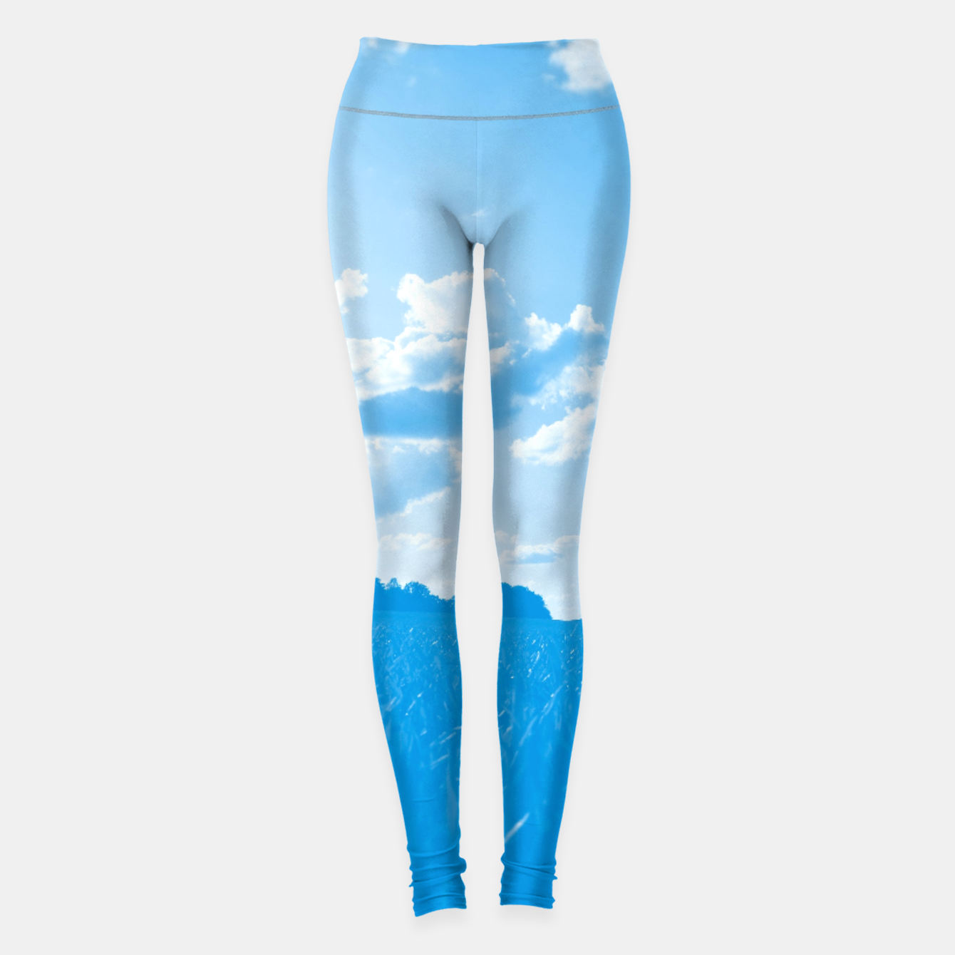 Image de meadow and clouds wb Leggings - Live Heroes
