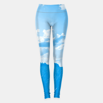 meadow and clouds wb Leggings miniature