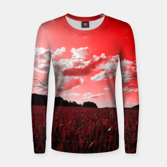 Miniature de image de meadow and clouds dr Women sweater, Live Heroes
