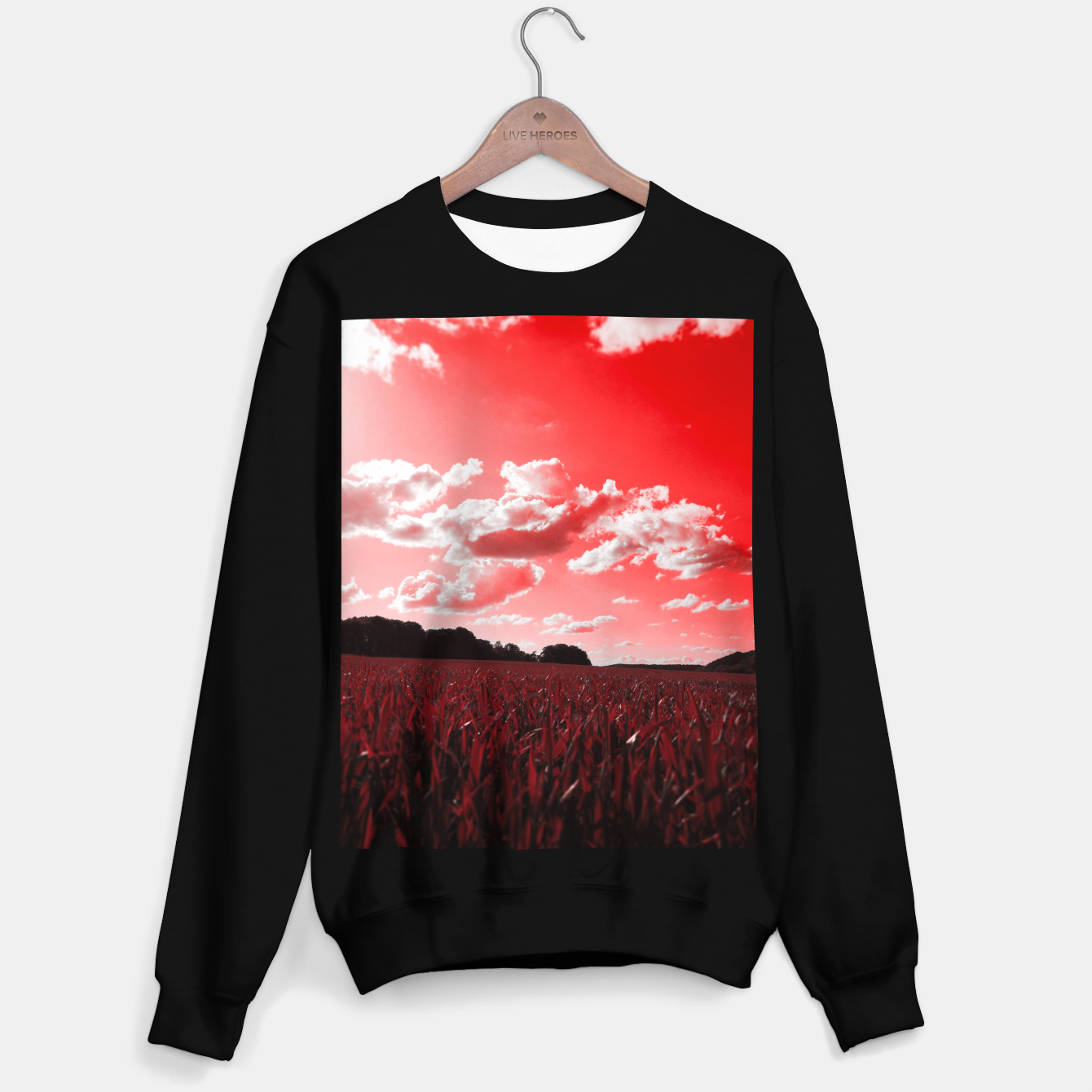 Image of meadow and clouds dr Sweater regular - Live Heroes