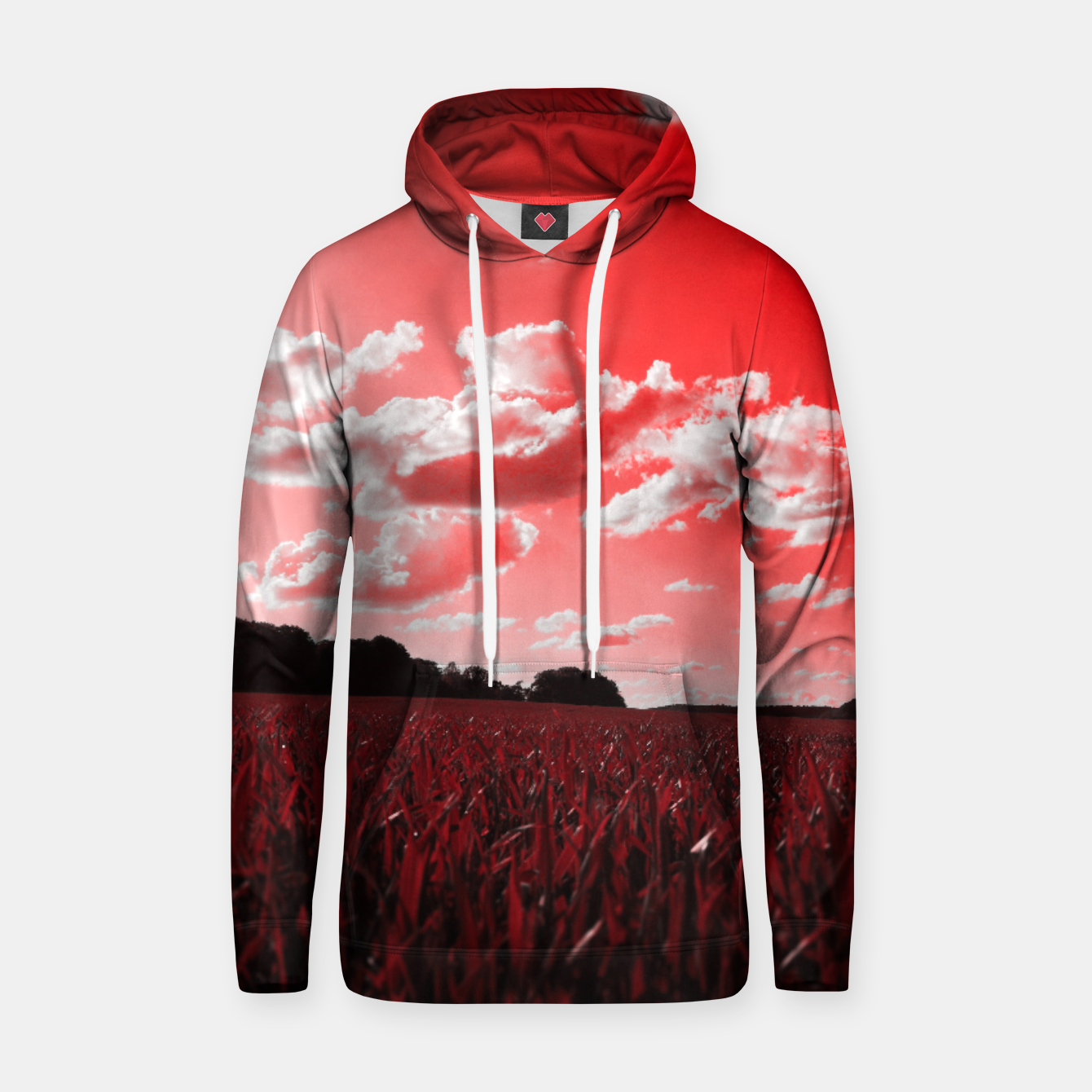 Image of meadow and clouds dr Hoodie - Live Heroes