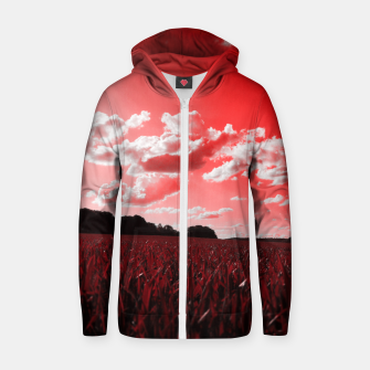 Thumbnail image of meadow and clouds dr Zip up hoodie, Live Heroes