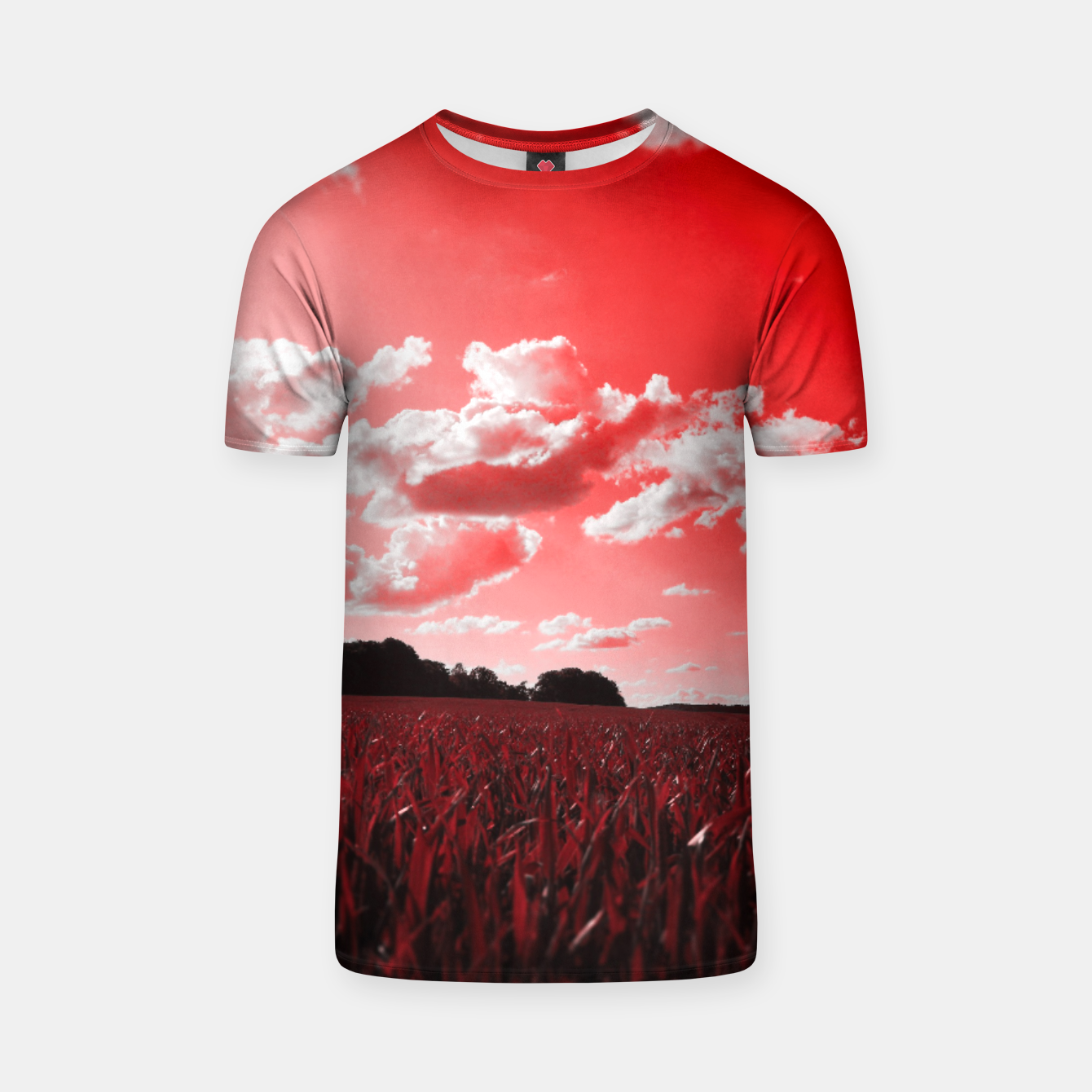 Image of meadow and clouds dr T-shirt - Live Heroes