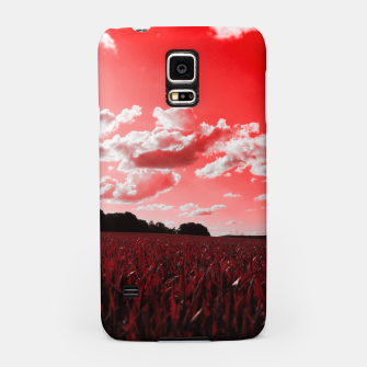 meadow and clouds dr Samsung Case miniature