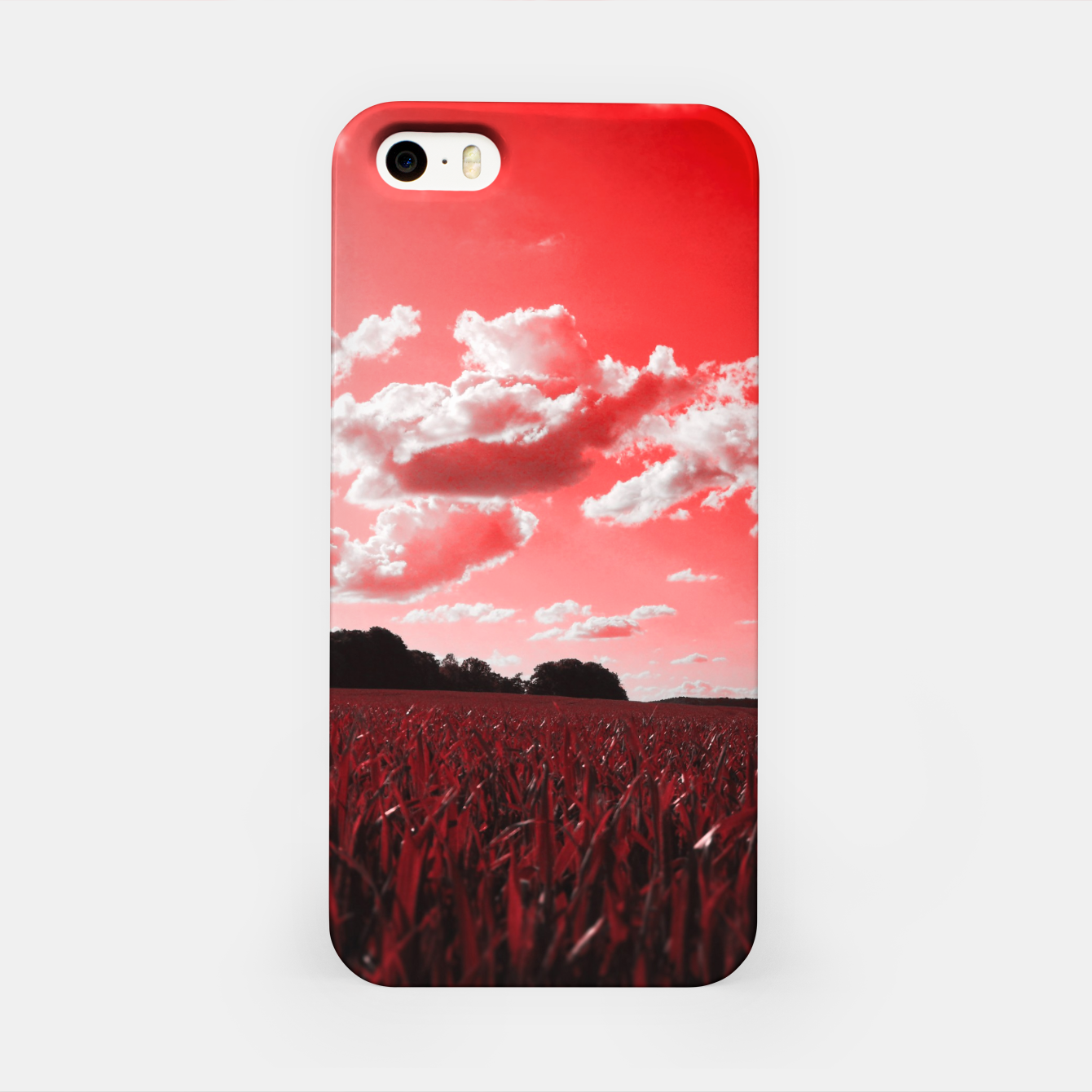 Image of meadow and clouds dr iPhone Case - Live Heroes