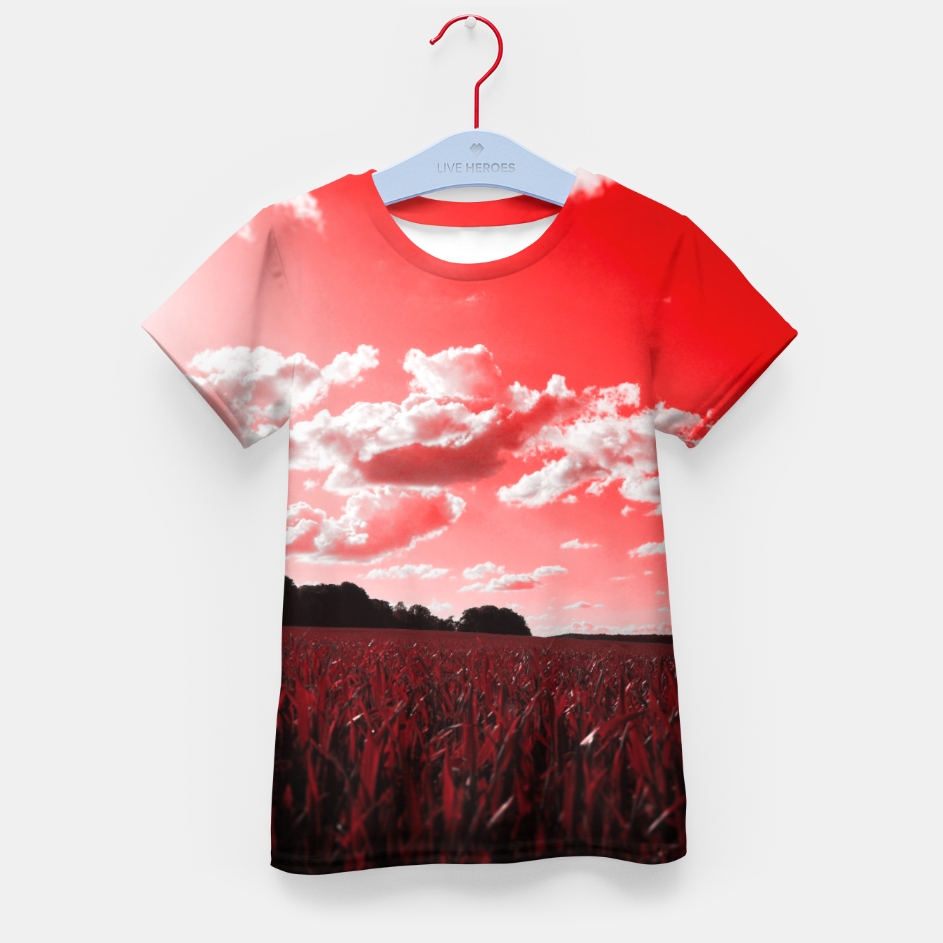 Image of meadow and clouds dr Kid's t-shirt - Live Heroes