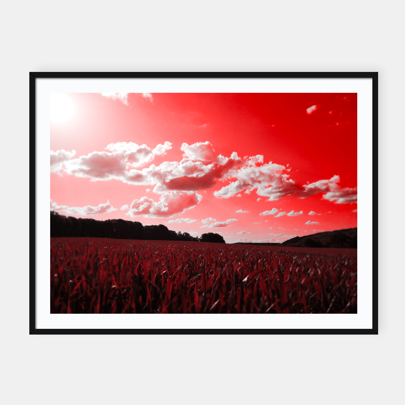 Image de meadow and clouds dr Framed poster - Live Heroes