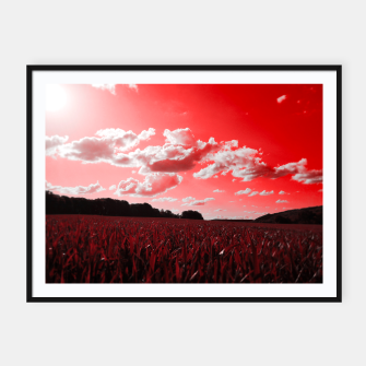 meadow and clouds dr Framed poster miniature