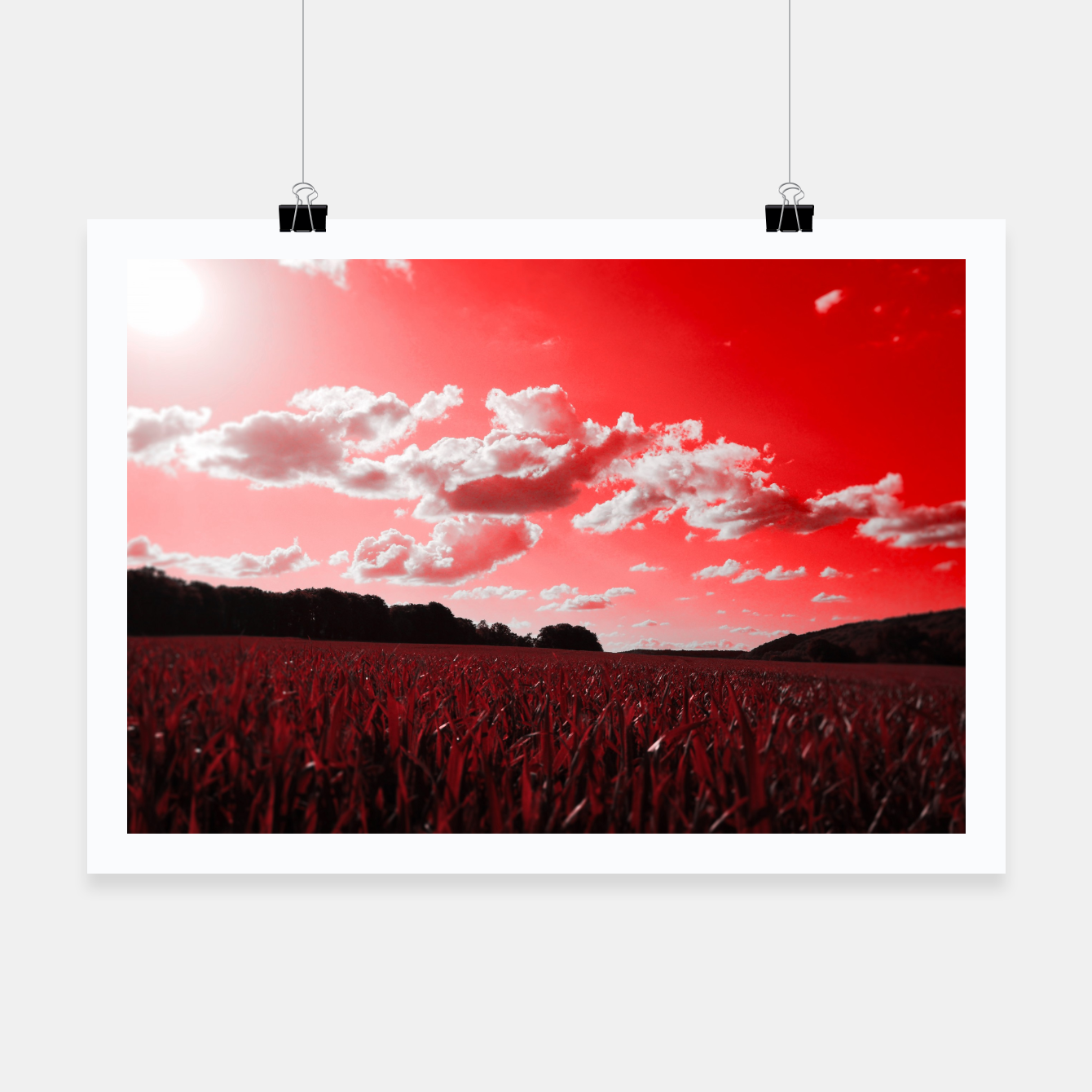 Image of meadow and clouds dr Poster - Live Heroes