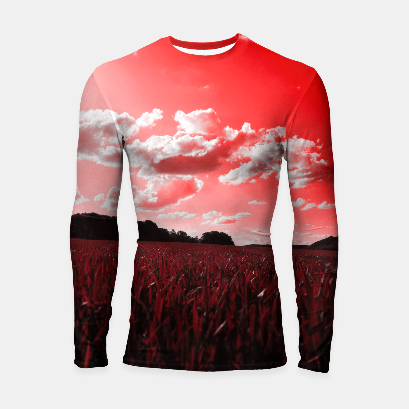 Image of meadow and clouds dr Longsleeve rashguard  - Live Heroes