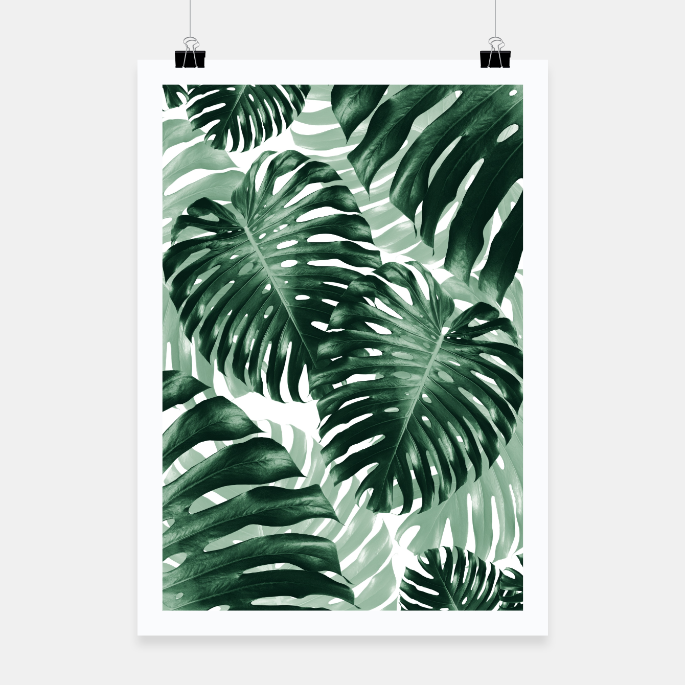 Zdjęcie Tropical Monstera Jungle Leaves Pattern #1 #tropical #decor #art Plakat - Live Heroes