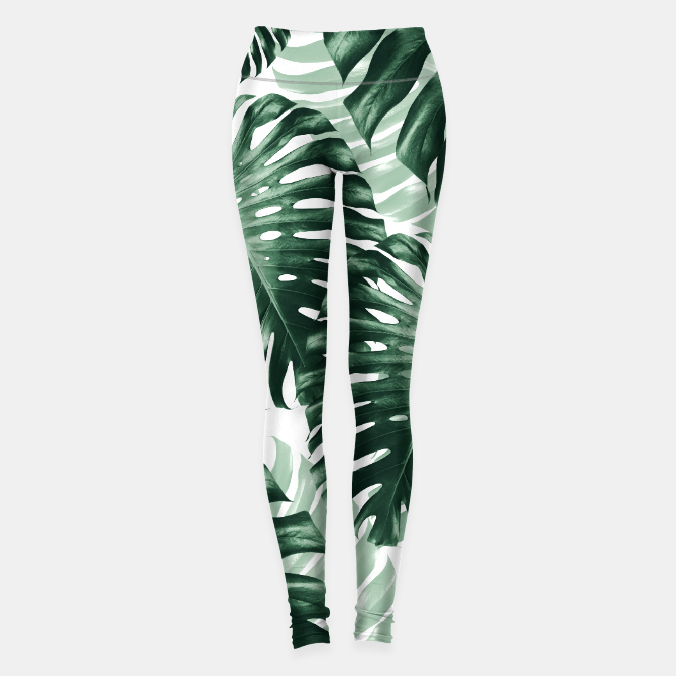 Zdjęcie Tropical Monstera Jungle Leaves Pattern #1 #tropical #decor #art Leggings - Live Heroes