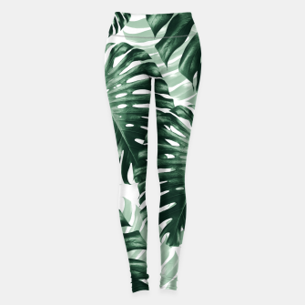 Miniaturka Tropical Monstera Jungle Leaves Pattern #1 #tropical #decor #art Leggings, Live Heroes