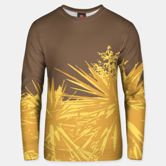 Miniature de image de Mustard yucca leaves on toffee background  Unisex sweater, Live Heroes