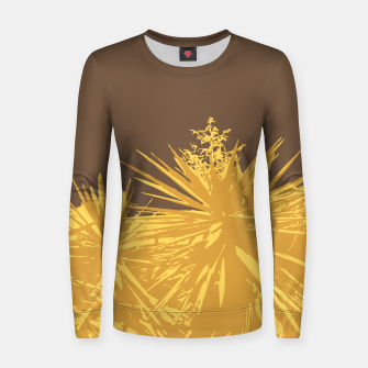 Thumbnail image of Mustard yucca leaves on toffee background  Women sweater, Live Heroes