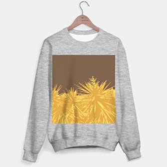 Miniaturka Mustard yucca leaves on toffee background  Sweater regular, Live Heroes