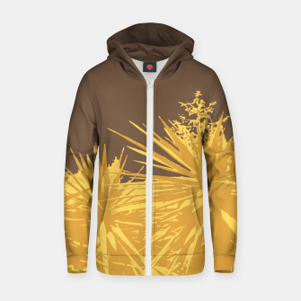 Thumbnail image of Mustard yucca leaves on toffee background  Zip up hoodie, Live Heroes