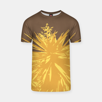 Miniature de image de Mustard yucca leaves on toffee background  T-shirt, Live Heroes