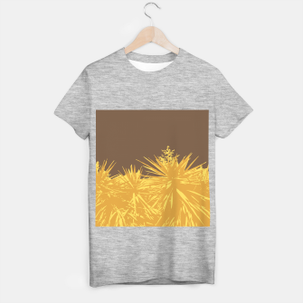 Miniature de image de Mustard yucca leaves on toffee background  T-shirt regular, Live Heroes