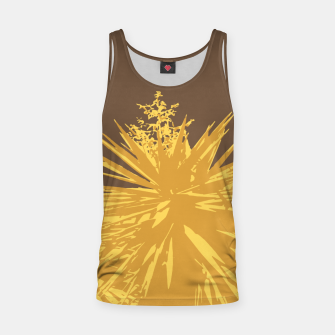 Miniaturka Mustard yucca leaves on toffee background  Tank Top, Live Heroes