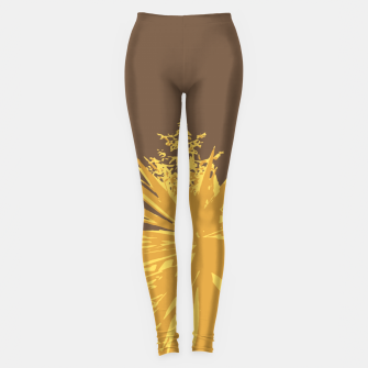 Miniature de image de Mustard yucca leaves on toffee background  Leggings, Live Heroes