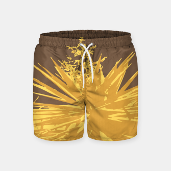 Miniature de image de Mustard yucca leaves on toffee background  Swim Shorts, Live Heroes